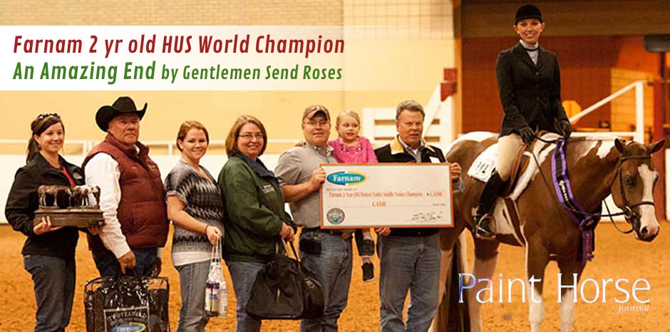 An Amazing End - GSR Sires 1st ever Farnam 2 yr old HUS World Champsion